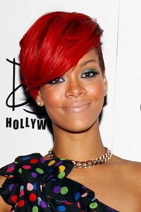 rihanna hairstyles 2010 red hair. Rihanna#39;s Hairstyles