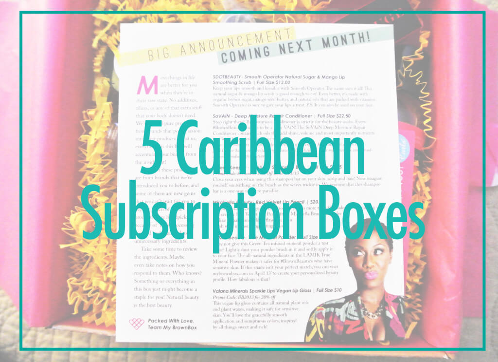 Caribbean Lifestyle Subscription boxes